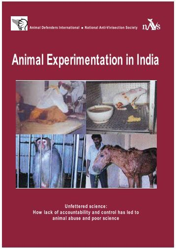 Animal Experimentation in India - NAVS: National Anti-Vivisection ...