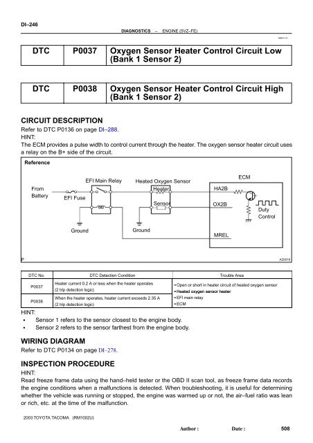 hyundai p0030 ho2s heater control circuit bank 1 / sensor 1