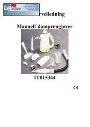 Brukerveiledning Manuell damprengjører IT015344