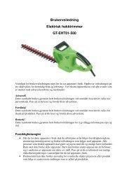 Brukerveiledning Elektrisk hekktrimmer GT-EHT01-500