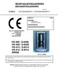 Avalon® HX-408 / S-8408 HX-409 / S-8409 HX-414 / S-8414 HX-415 / S-8415 BR006