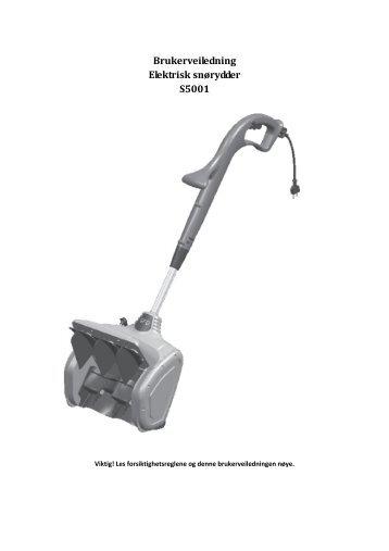 Elektrisk snørydder S5001