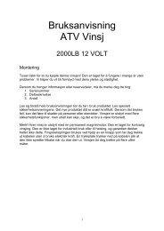 Bruksanvisning ATV Vinsj