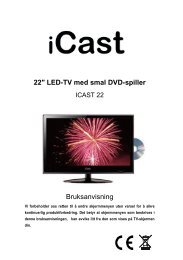 22″ LED-TV med smal DVD-spiller ICAST 22 Bruksanvisning
