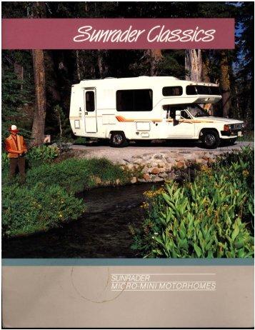 Sunrader Classics.pdf - Toyota Motorhome and Toyota Motorhomes ...
