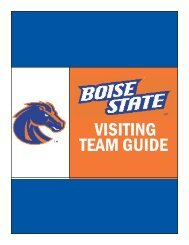 VISITING TEAM GUIDE - Boise State University Athletics