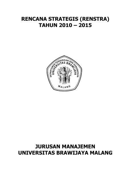 Rencana Strategis Feb Ub Universitas Brawijaya
