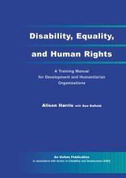 Disability Equality and Human Rights