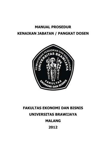 manual prosedur kenaikan jabatan / pangkat dosen ... - FEB UB