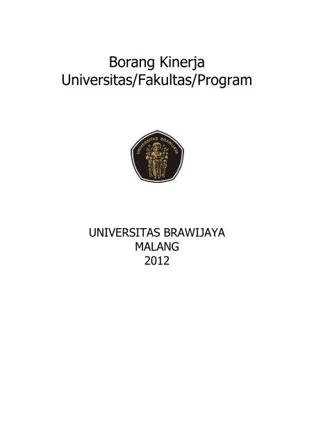 Borang Kinerja Universitas Fakultas Program