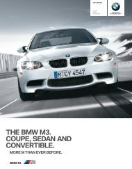THE BMW M3 COUPE SEDAN AND CONVERTIBLE