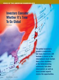 Investors Consider Whether It's Time To Go Global