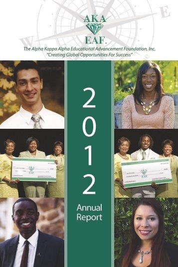 Annual Report - Alpha Kappa Alpha Educational Advancement ...