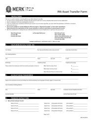 IRA Asset Transfer Form