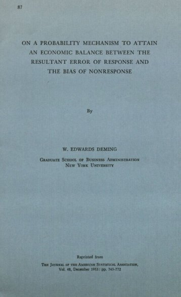 ON A PROBABILITY MECHANISM TO ATTAIN AN ECONOMIC ...