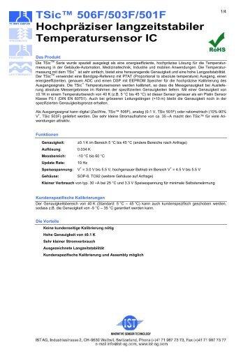 TSic™ 506F/503F/501F Hochpräziser langzeitstabiler - IST AG