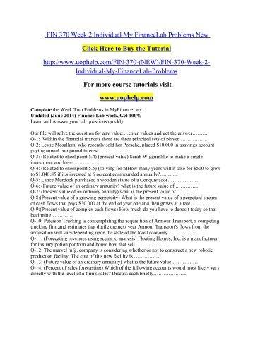 Fin 571 text problem sets wk2