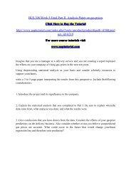 BUS 308 Week 5 Final Part II  Analysis Paper on gas prices/Uoptutorial