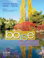 Visitor Guide - Boise Convention & Visitors Bureau