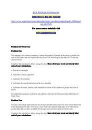 BUS 308 Week 4 Problem Set/Uoptutorial
