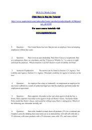 BUS 311 Week 3 Quiz/Uoptutorial