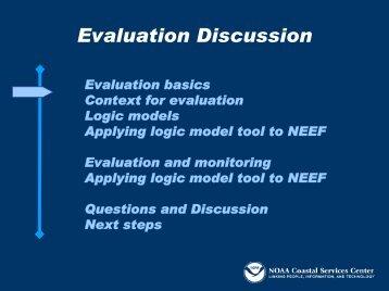 Evaluation Discussion