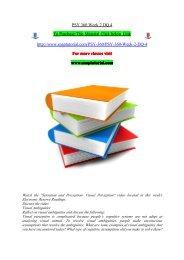 PSY 360 Week 2 DQ 4/snaptutorial