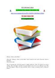 PSY 360 Week 3 DQ 4/snaptutorial