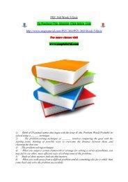 PSY 360 Week 5 Quiz/snaptutorial