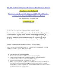 FIN 420 Week 4 Learning Team Assignment Market Analysis Proposal.pdf