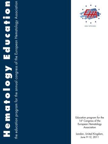 H e m a t o lo g y E d u c a t io n - European Hematology Association
