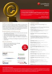 Corporate Intellectual Property in China