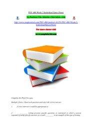 PSY 480 Week 2 Individual Quiz (New)