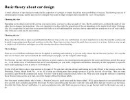 Basic theory about car design