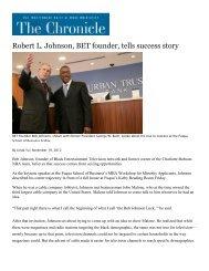 Robert L Johnson BET founder tells success story