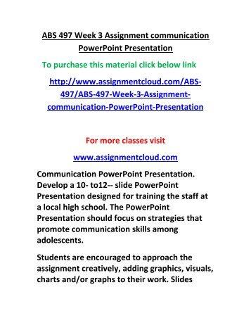 assignment communication powerpoint