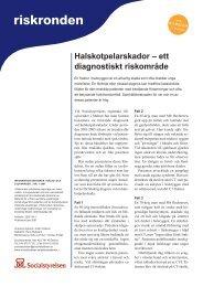 Riskronden nr. 1 2007: Halskotpelarskador - ett ... - WhiplashInfo