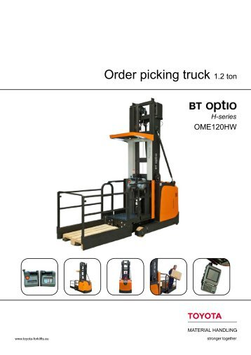 BT Optio OME 120HW Datasheet   Toyota Material Handling Europe