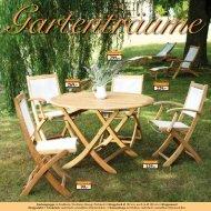 Gartenmöbel aus massivem Teakholz - Ploß & Co.
