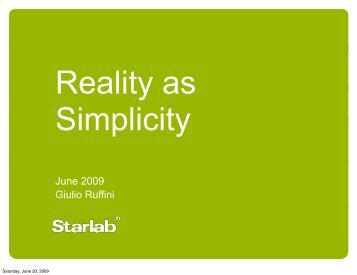 Reality as Simplicity