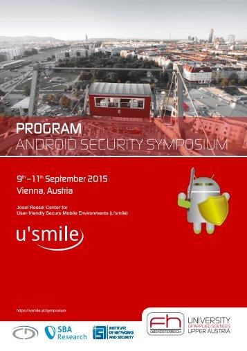 PROGRAM ANDROID SECURITY SYMPOSIUM