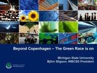 Beyond Copenhagen – The Green Race is on