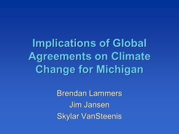 Implications of Global Agreements on Climate Change for Michigan