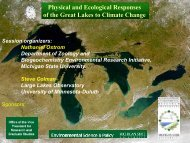 Physical and Ecological Responses of the Great Lakes to Climate Change