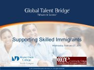 Supporting Skilled Immigrants - Community College Consortium for ...