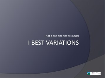 I BEST VARIATIONS