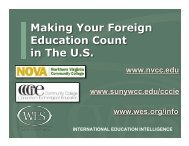 Making Your Foreign Education Count in The U.S