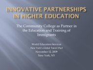 the Education and Training of Immigrants