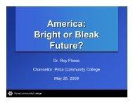 America Bright or Bleak Future?