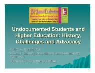 Undocumented Students and Higher Education History Challenges and Advocacy